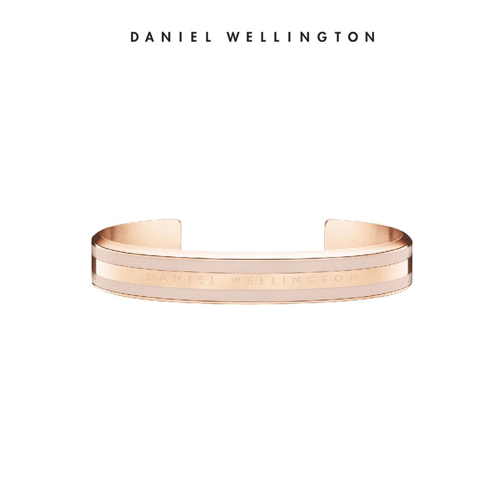 【Daniel Wellington】官方直營 Classic Bracelet 時尚奢華手環-玫瑰金x沙漠灰-S DW手環