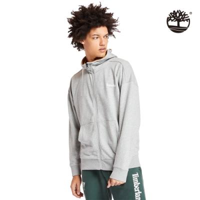 Timberland 男款月岩灰品牌LOGO連帽外套|A2288