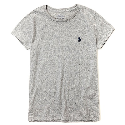 Polo Ralph Lauren 熱銷小馬圓領素面短袖T恤(女)-灰色