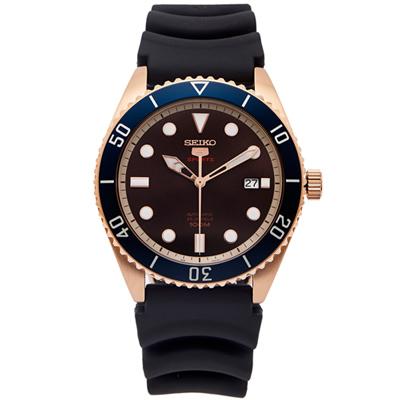 SEIKO 運動5號機芯械錶手錶(SRPB96K1)-咖啡色面x黑色/42mm