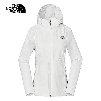 The North Face北面女款白色防潑水透氣外套|3RL6FN4
