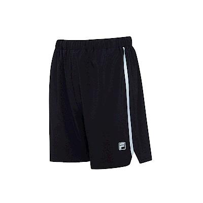 FILA 男抗UV平織短褲-黑1SHS-1612-BK