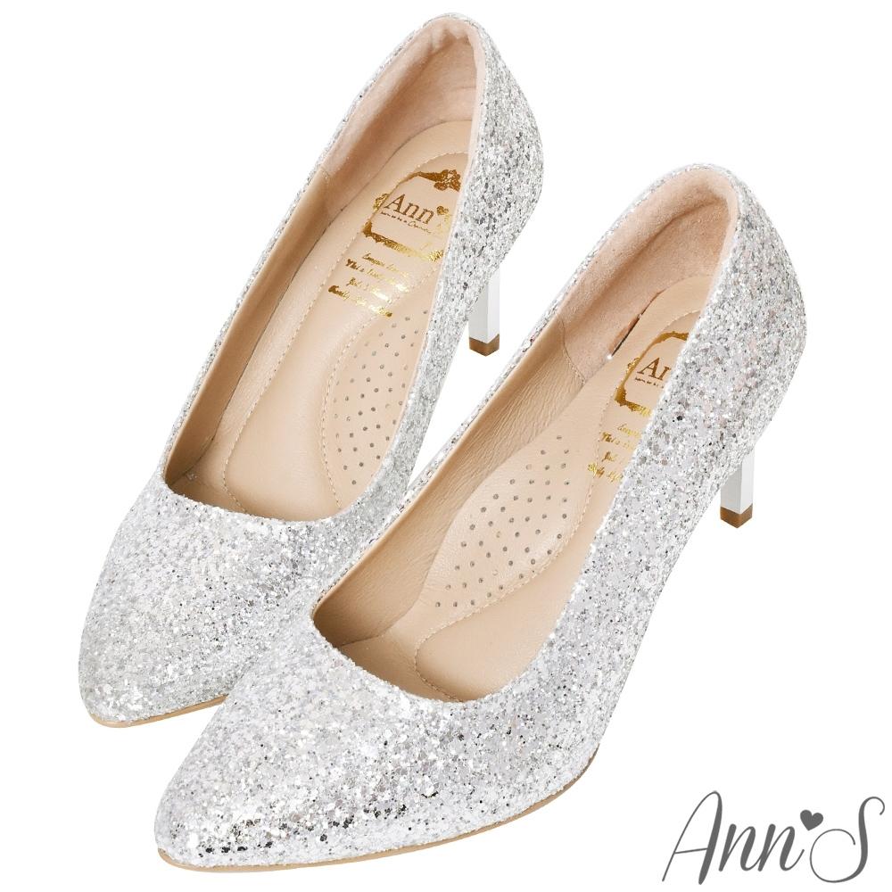 Ann'S銀河碎石亮片電鍍鞋跟尖頭高跟鞋