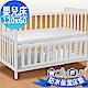 WallyFun 嬰兒床用100%防水保潔墊 -平單式(120x60cm) ~台灣製造 product thumbnail 1