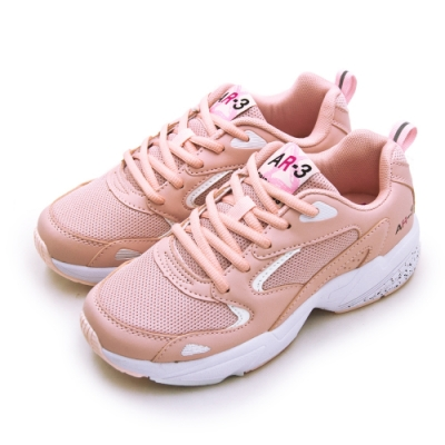 ARNOR 輕量Q彈緩震慢跑鞋 FOLLOW UP系列 藕粉白 02123