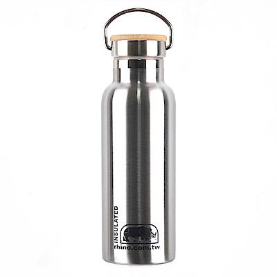 犀牛RHINO Vacuum Bottle雙層不鏽鋼保溫水壺(竹片蓋)500ml