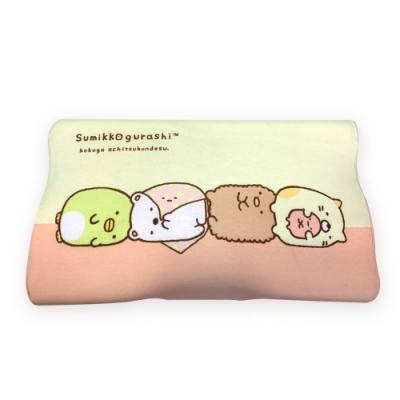 角落小夥伴 慢回彈蝶形護頸枕 記憶枕 兒童枕 釋壓枕 50x30cm(枕套可拆洗)-一起耍廢