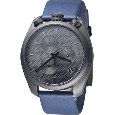 Calvin Klein 復刻碼表造型時尚錶(K6Z577V4)