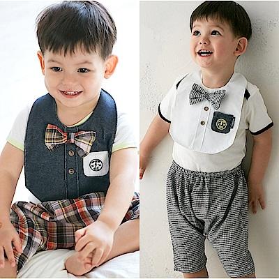baby童衣 英倫紳士哈倫褲 附造型圍兜 80066