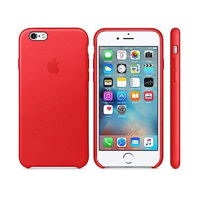 Apple 原廠 iPhone6 / 6S case 適用 皮革保護套(紅色-盒...