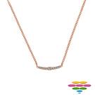 彩糖鑽工坊 925銀鍍玫瑰金項鍊 CZ鋯石寶石項鍊 桃樂絲 Doris系列