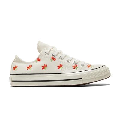 CONVERSE CHUCK 70 低筒 女鞋 花卉刺繡 休閒鞋 白色 570916C