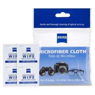 蔡司 Zeiss Microfiber Cloth 超細纖維布+拭鏡紙/20張