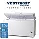 丹麥原裝進口 Vestfrost  383L  超低溫-60℃冷凍櫃 5尺2冰櫃 VT-407 德國壓縮機,電壓220v product thumbnail 1