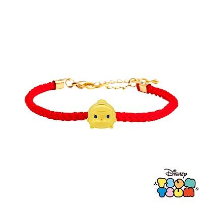 Disney迪士尼TSUM TSUM系列金飾 黃金編織手鍊-仙杜瑞拉款