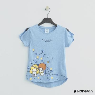 Hang Ten -童裝 - Sanrio-可愛雙子星露肩上衣 - 藍