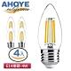 AHOYE LED愛迪生蠟燭燈泡 黃光 4入 (E14接頭) product thumbnail 1