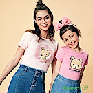 bossini女裝-拉拉熊系列印花短袖T恤02嫩粉