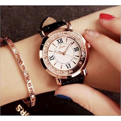 Ela韓國潮流時尚水鑽女腕錶石英錶手錶