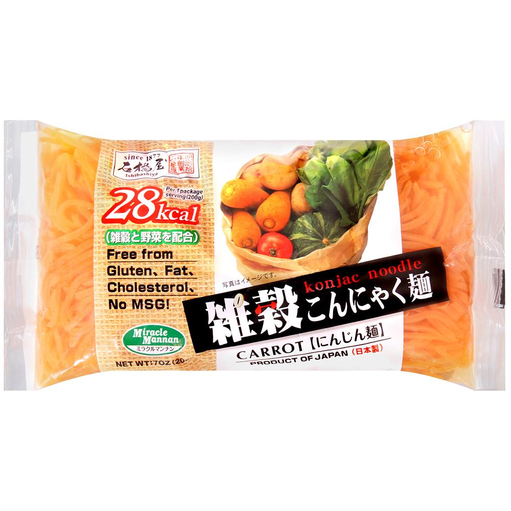 石橋屋 蒟蒻麵[胡蘿蔔風味](200g)