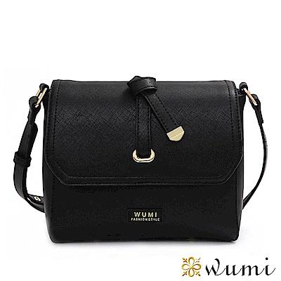 WuMi 無米 蜜莉Mini蝴蝶結斜背包 流行黑(快)