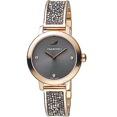 SWAROVSKI施華洛世奇COSMIC ROCK時尚腕錶(5466205)-灰色