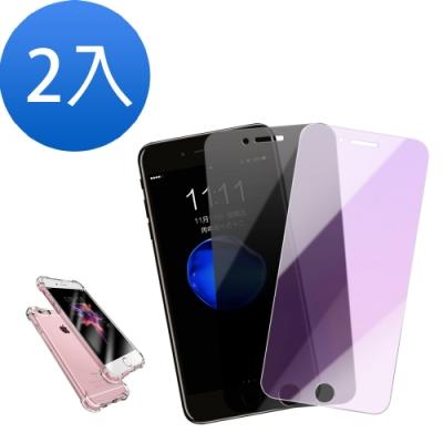 iPhone6SPLUS藍紫光/防窺鋼化膜-2入組-贈手機殼