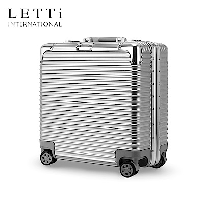 LETTi  時尚饗宴 20吋 商旅鏡面鋁框行李箱  (星鑽銀)