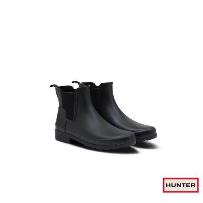 HUNTER - 女鞋-Refined切爾西霧面踝靴 - 黑