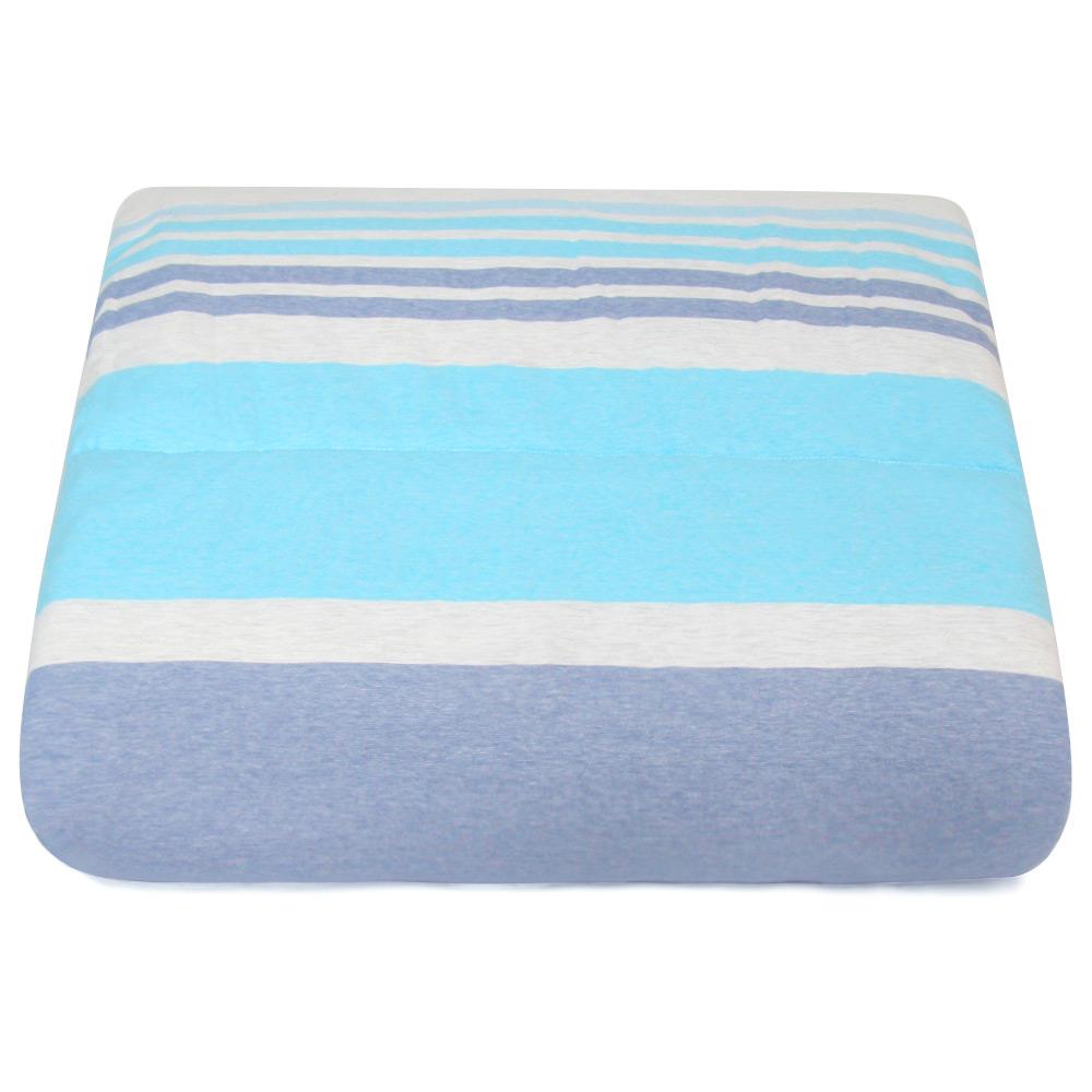 Yvonne Collection變色條紋6x7呎雙人四季被-藍紫