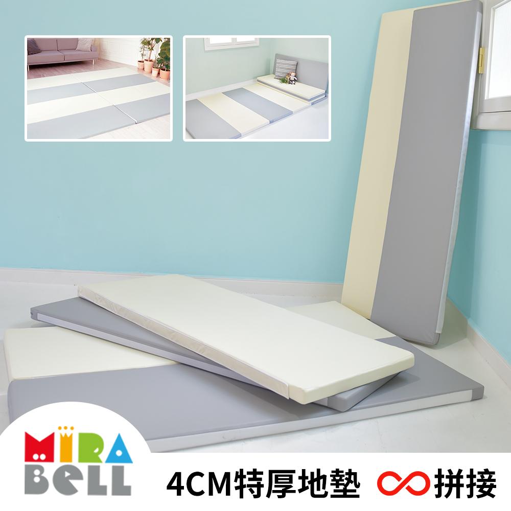 【韓國MIRABELL】兒童4cm厚拼接地墊-三款任選 (2入軟墊/遊戲墊/爬行墊/床邊墊)