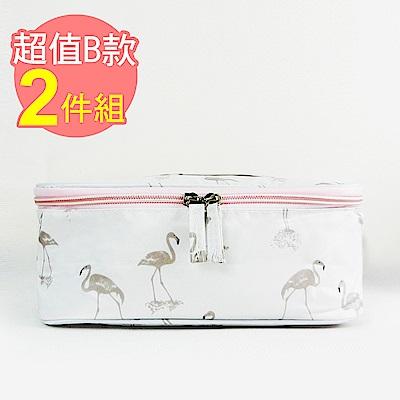 【暢貨出清】JIDA 300D小清新加厚防震防潑水旅行化妝收納包/B款(2入)
