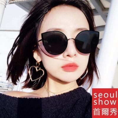 seoul show首爾秀 V牌貓眼金屬框太陽眼鏡UV400墨鏡 609