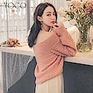 東京著衣-yoco 一秒擁入懷暖暖QQ絨美肩毛衣(共二色)
