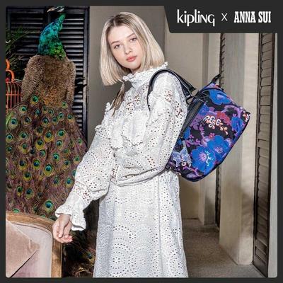 Kipling Kipling x ANNA SUI 搖滾冬青羽蝶印花手提側背包-ART MINI