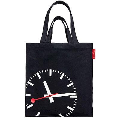 Mondaine 瑞士國鐵重磅帆布兩用托特包-黑