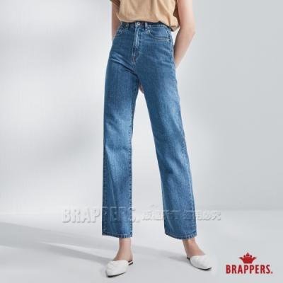 BRAPPERS 女款 Boy friend系列-高腰直筒褲-淺藍