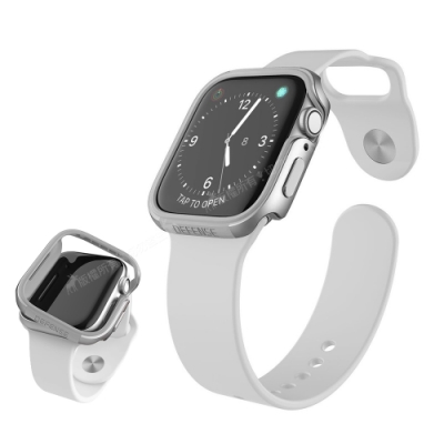 刀鋒Edge系列 Apple Watch Series SE/6/5/4 (44mm) 鋁合金雙料保護殼 保護邊框(星空銀)