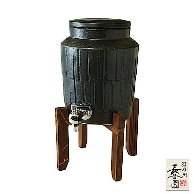 日本長谷園伊賀燒 負離子水壺(黑)