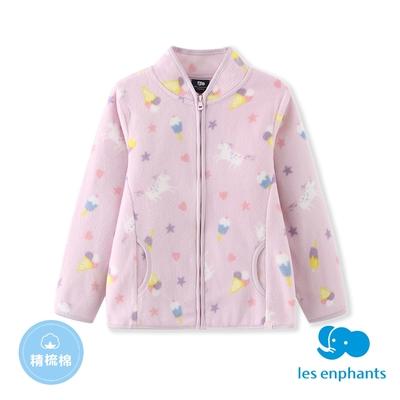 【麗嬰房】EASY輕鬆系列  小童印花外套-淺紫色(86cm~130cm)
