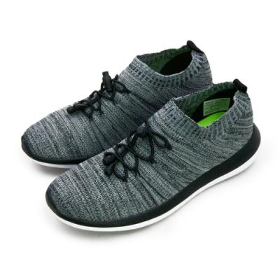 ARNOR 輕量Q彈編織慢跑鞋 飛織未來 系列 灰黑 83118