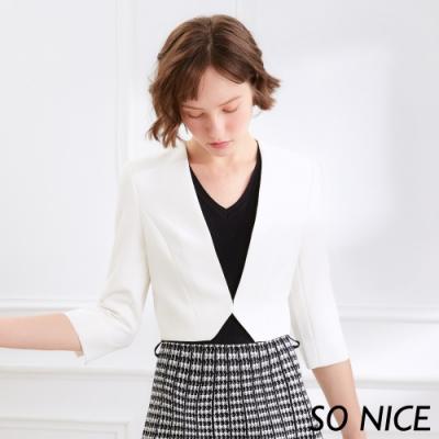 {品牌日}SO NICE時尚不規則短版西裝外套