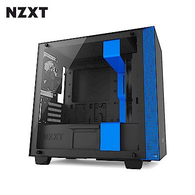 NZXT恩傑 H400 MICRO-ATX CASE 電腦機殼/鋼化側透玻璃-藍
