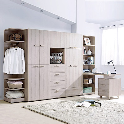 AS-弗雷亞10.5尺系統式衣櫥-317x59x202cm