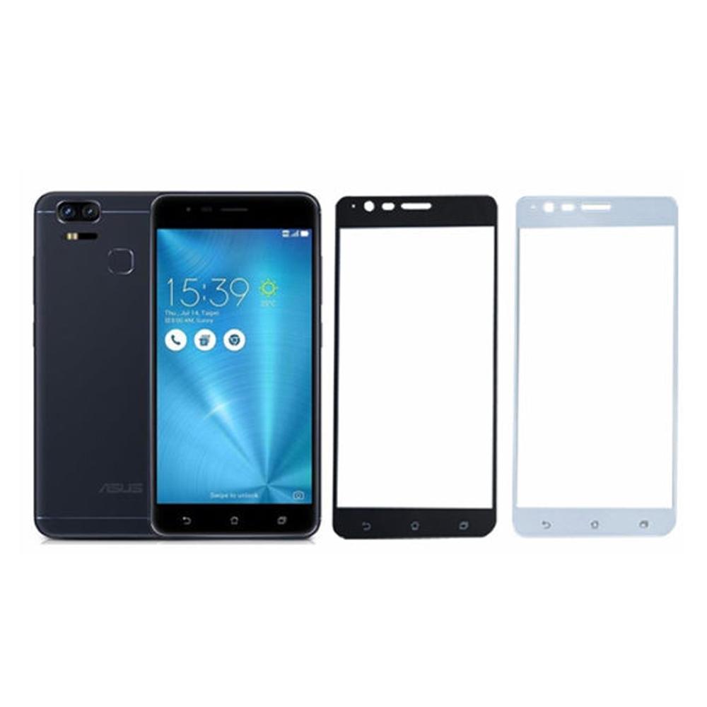 【MK馬克】ASUS Zenfone3 Zoom ZE553KL全滿版9H鋼化玻璃貼-白色
