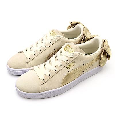PUMA Suede Bow Varsity 女休閒鞋 36773203 米白