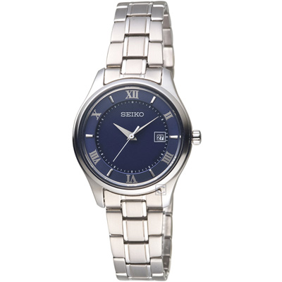 SEIKO精工SPIRIT簡約羅馬太陽能鈦金屬女腕錶(STPX065J)