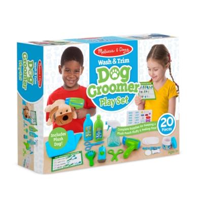 【 Melissa & Doug 瑪莉莎】角色扮演 - 狗狗美容院遊戲組