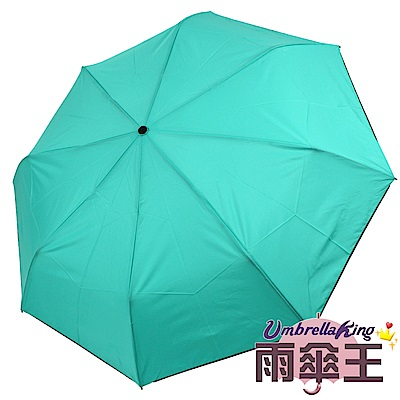 【雨傘王-終身免費維修】23吋奈米防潑水安全自動傘-蒂芬綠