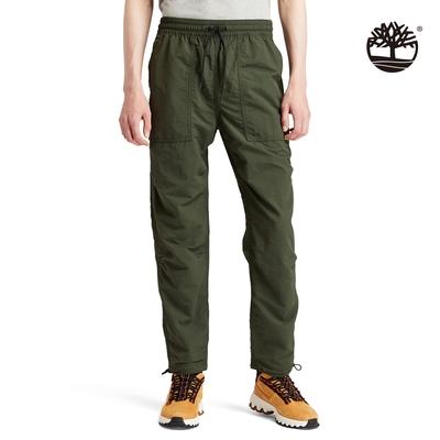 Timberland 男款深綠色ARCHIVE戶外休閒慢跑長褲|A22G1U31
